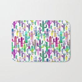 Watercolor Cacti - Pinks - Saguaros Bath Mat