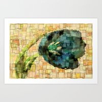 tulip Art Prints featuring Tulip by Aloke Design