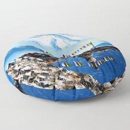 Panoramic View Of Annapurna Mountain Nepal Floor Pillow