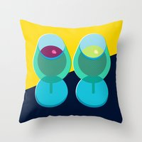 wine Throw Pillows featuring Wine by Sam Osborne
