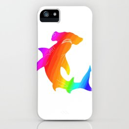 Rainbow hammerhead iPhone Case