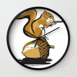 Back Off!  (Nutty Squirrel) Wall Clock