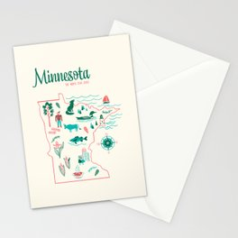 Minnesota State Love Stationery Cards
