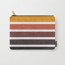 Colorful Brown Geometric Pattern Carry-All Pouch