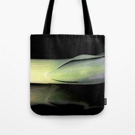 Leek on Black Tote Bag
