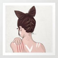 catwoman Art Prints featuring Catwoman by Chelsea Hantken