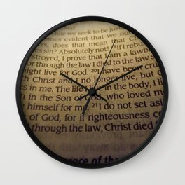 Through the Law. Wall Clock