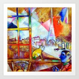 Marc Chagall Paris Through the Window Art Print