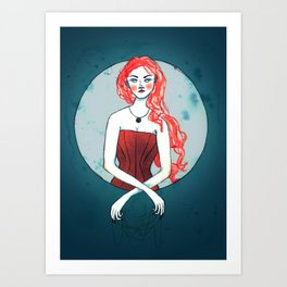 Tangle Weaver Art Print