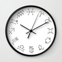 Reversed Zodiac Constellation Wall Clock