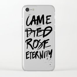 #JESUS2019 - Came Died Rose Eternity (black) Clear iPhone Case