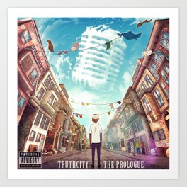 TruthCity - The Prologue Album Art Art Print