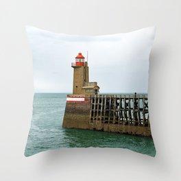 Fécamp Lighthouse Throw Pillow