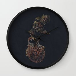 Lonely Planet - colour option  Wall Clock