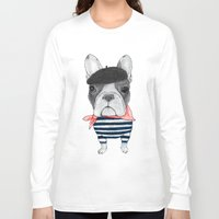french bulldog Long Sleeve T-shirts featuring French Bulldog. by Barruf