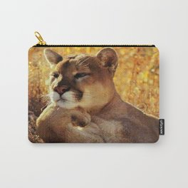 The Golden Thinker 🐾 Cougar 🐾 Carry-All Pouch
