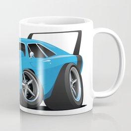 Classic American Winged Muscle Car Cartoon Coffee Mug