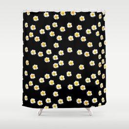 Daisy Cute Face Floral Shower Curtain
