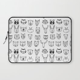 Wild Animal Portraits in Black and White Laptop Sleeve