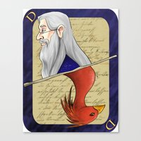 dumbledore Canvas Prints featuring Albus Dumbledore by Imaginative Ink