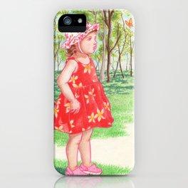 Little Miss Butterfly iPhone Case