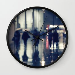 London Rain Wall Clock