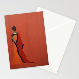 Maasai Princess - Original Acrylic on Canvas Artwork Stationery Cards