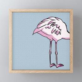 Flamingo's back Framed Mini Art Print