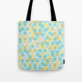 Triangulation (blue and green) Tote Bag