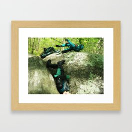 Wipe Out Framed Art Print