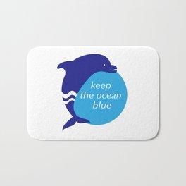 Keep the Ocean Blue_Dolphin_E02 Bath Mat