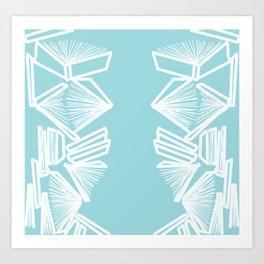 Bookworm Blue Art Print