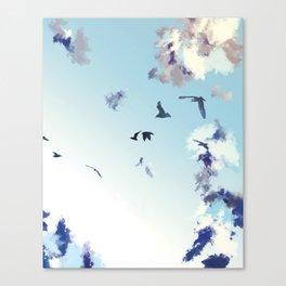 Birds in sky Canvas Print