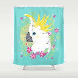 Sulphur Crested Cockatoo Shower Curtain