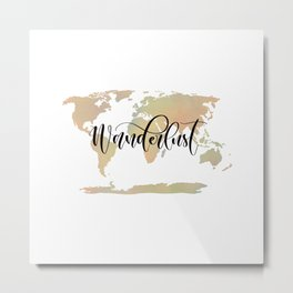 Wanderlust (blush/green) Metal Print
