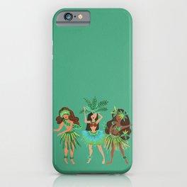 Luau Girls on Mint iPhone Case
