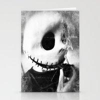 jack skellington Stationery Cards featuring smoking jack skellington by Joedunnz