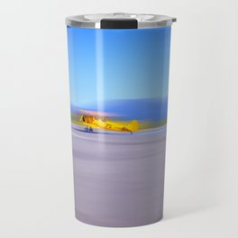 Just a Blur a classic two seater airplane Travel Mug