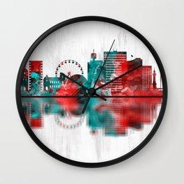 Geneva Switzerland Skyline Wall Clock