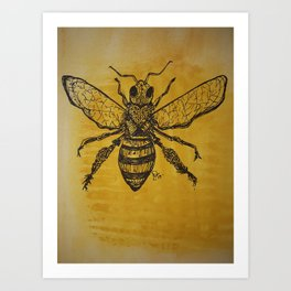 bee nice,honey comb vibes,save the bees Art Print
