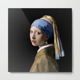 Girl with a Pearl Earring by Johannes Vermeer Metal Print
