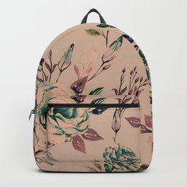 Lisianthus Pattern - Vintage Backpack