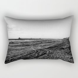 Walking through the beach Rectangular Pillow