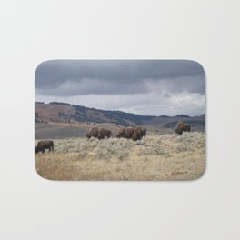Bison in Yellowstone National Park Bath Mat