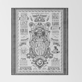 Legend of Zelda inspired Deku Nuts Vintage Advertisement Throw Blanket