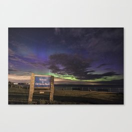 May Aurora at Old Garden Beach Canvas Print
