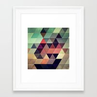 green Framed Art Prints featuring tryypyzoyd by Spires