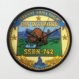 USS WYOMING (SSBN-742) PATCH Wall Clock