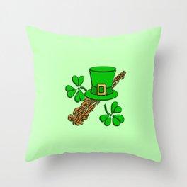 Irish Hat Design Throw Pillow
