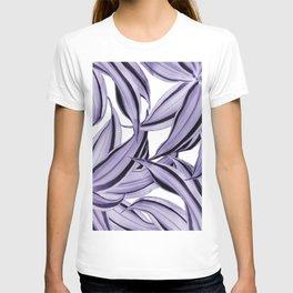 Dracaena Tropical Leaves Pattern Ultra Violet #1 #tropical #decor #art #society6 T-shirt